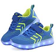 baratos Sapatos de Menino-Para Meninos Sapatos Tricô / Tule Verão Conforto / Tênis com LED Tênis LED para Azul Escuro / Branco / Preto / Azul Real