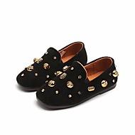 tanie Obuwie chłopięce-Dla dziewczynek Dla chłopców Buty Nubuk Wiosna Jesień Mokasyny Comfort Mokasyny i pantofle na Casual Black Gray Brown