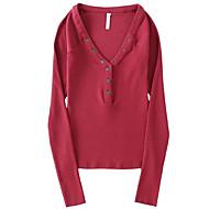 女性用 Tシャツ ベーシック ストリートファッション ソリッド