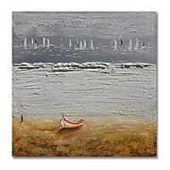 billiga Oljemålningar-styledecor® modern handmålade abstrakt båten i grå bakgrund oljemålning på duk för väggkonst redo att hänga konst