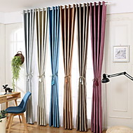 cheap Curtains Drapes-Curtains Drapes Living Room Floral Contemporary Cotton / Polyester Embossed
