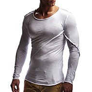 Herre - Ensfarvet Basale T-shirt