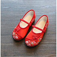 tanie Obuwie dziewczęce-Dla dziewczynek Buty Materiał Wiosna Jesień Comfort Buty płaskie na Casual Beige Różowy Burgundowy