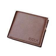 Muškarci Torbe Umjetna koža / Polyurethane Leather Novčanici U slojevima Crn / Kava
