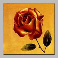 billiga Blom-/växtmålningar-Hang målad oljemålning HANDMÅLAD - Abstrakt Blommig / Botanisk Vintage Duk
