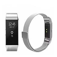 billiga Smart klocka Tillbehör-Klockarmband för Fitbit Charge 2 Fitbit Sportband Milanesisk loop Rostfritt stål Handledsrem
