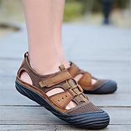 tanie Obuwie męskie-Męskie Buty Nappa Leather Lato Comfort Sandały na Casual Na wolnym powietrzu Black Brown Dark Brown