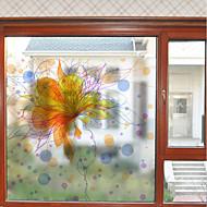 tanie סרטים ומדבקות לחלון-Folie okienne i naklejki Dekoracja Kwiatowy Współczesny Kwiaty PVC Naklejka okienna Matowy / a