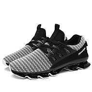 billige Herresko-Herre Novelty Shoes Tyl Forår / Sommer Sneakers Hvid / Sort / Rød