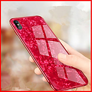 billiga Mobil cases & Skärmskydd-fodral Till Apple iPhone X / iPhone 8 Spegel / Läderplastik Skal Geometriska mönster Hårt Härdat glas för iPhone X / iPhone 8 Plus /