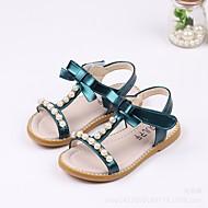 baratos Sapatos de Menina-Para Meninas Sapatos Couro Ecológico Verão Conforto / Sapatos para Daminhas de Honra Sandálias para Branco / Verde / Rosa claro