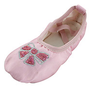 billige Ballettsko-Jente Ballettsko Silke Flate Blomst Flat hæl Dansesko Rosa / Innendørs / Trening
