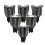 billige Innfelte LED-lys-ZDM® 6pcs 6W 1 LED LED-spotpærer Varm hvit Kjølig hvit Naturlig hvit 85-265V Kommersiell Hjem / kontor