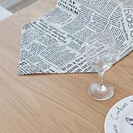 billige Kuvertbrikker-Moderne PVC / Ikke Vevet Kvadrat Bordskånere Geometrisk Borddekorasjoner 1 pcs