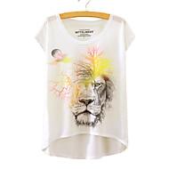 Dame - Dyr Trykt mønster T-shirt Løve