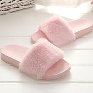 cheap -Women's Shoes Fabric Spring & Summer Comfort Slippers & Flip-Flops Flat Heel Open Toe Gray / Pink / Khaki