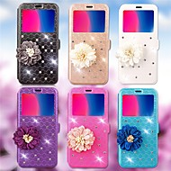 billiga Mobil cases & Skärmskydd-fodral Till Huawei Y5 II / Honor 5 / Nova Korthållare / Strass / med stativ Fodral Geometriska mönster / Blomma Hårt PU läder för Huawei