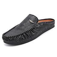 cheap Men's Clogs & Mules-Men's Shoes Synthetic Microfiber PU / Leather Summer Comfort Clogs & Mules White / Black / Brown