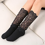 Děti Dívčí Aktivní Jdeme ven Geometrický Krajka Polyester Spodní prádlo a ponožky Bílá