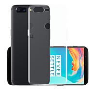 billiga Mobil cases & Skärmskydd-fodral Till OnePlus 5 Genomskinlig Skal Enfärgad Mjukt TPU för One Plus 5