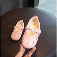 baratos Sapatos de Menina-Para Meninas Sapatos Couro Ecológico Verão Sapatos para Daminhas de Honra Sapatos de Barco para Branco / Rosa claro