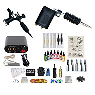 billige Tatoveringssett for nybegynnere-BaseKey Tattoo Machine Startkit - 2 pcs tattoo maskiner med 7 x 15 ml tatovering blekk, Profesjonell, Sæt Legering Mini strømforsyning No case 20 W 2 x roterende tatoveringsmaskin til lining og