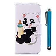 billiga Mobil cases & Skärmskydd-fodral Till Xiaomi Redmi 5 Plus / Redmi 5 Plånbok / Korthållare / med stativ Fodral Panda Hårt PU läder för Redmi Note 5A / Xiaomi Redmi