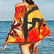 billiga Handdukar och badrockar-Överlägsen kvalitet Strand handduk, Målning Polyester / Bomull Blandning 1 pcs