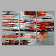 billiga Oljemålningar-Hang målad oljemålning HANDMÅLAD - Abstrakt Moderna Annat