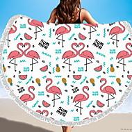 billiga Handdukar och badrockar-Överlägsen kvalitet Strand handduk, Geometrisk / Djur Polyester / Bomull Blandning 1 pcs