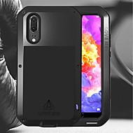 billiga Mobil cases & Skärmskydd-Lovemei fodral Till Huawei P20 / P20 Pro Stötsäker / Vattenavvisande Fodral Enfärgad Hårt Metall för Huawei P20 / Huawei P20 Pro