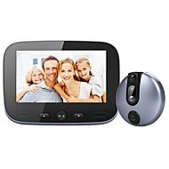 billige Dørtelefonssystem med video-M-100 Ledning Fotografert Opptak 4.3inch Håndfri En Til En Video Dørtelefon