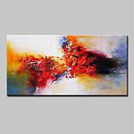Hang festett olajfestmény Kézzel festett - Absztrakt Modern Tartalmazza belső keret / Nyújtott vászon