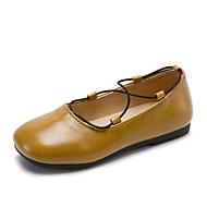 baratos Sapatos de Menina-Para Meninas Sapatos Borracha Verão Conforto / Sapatos para Daminhas de Honra Rasos para Preto / Amarelo Claro / Khaki