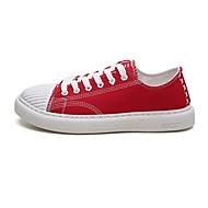 tanie Obuwie męskie-Unisex Komfortowe buty Płótno / Jeans Lato Adidasy Wielokolorowa Biały / Czarny / Czerwony