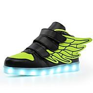 tanie Obuwie dziewczęce-Dla chłopców / Dla dziewczynek Obuwie TPU Jesień Wygoda / Świecące buty Tenisówki LED na Niebieski / Różowy / Czarny zielony