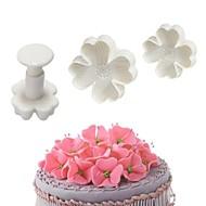 3 adet şanslı yonca kesiciler kek fondan piston sakız yapıştır craft dekorasyon araçları