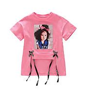 Børn Pige Trykt mønster Kortærmet T-shirt