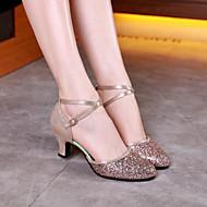 billige Moderne sko-Dame Moderne sko Glimtende Glitter Høye hæler Kustomisert hæl Kan spesialtilpasses Dansesko Sølv / Rød / Rosa / Ytelse