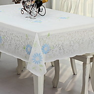 cheap Table Linens-Country PVC(PolyVinyl Chloride) Square Table Cloth Floral Table Decorations 1 pcs