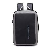 Men's Bags Cotton / Polyester Backpack Zipper Black / Gray