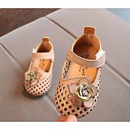 baratos Sapatos de Menina-Para Meninas Sapatos Courino Primavera Verão Conforto / Primeiros Passos Rasos para Bege / Verde / Rosa claro