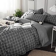 Sengesæt Geometrisk Polyester Reaktivt Print 4 DeleBedding Sets / 4stk (1 Dynebetræk, 1 Lagen, 2 Pudebetræk)