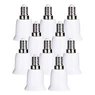 billige belysning Tilbehør-ZDM® 10pcs E14 til E27 E14 E26 / E27 Omformer Bulb Accessory Lysstikkontakt Plast og Metall
