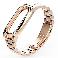 billiga Smart klocka Tillbehör-Klockarmband för Mi Band 2 Xiaomi Klassiskt spänne Rostfritt stål Handledsrem