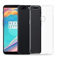 billiga Mobil cases & Skärmskydd-fodral Till OnePlus OnePlus 6 Genomskinlig Skal Enfärgad Mjukt TPU för OnePlus 6