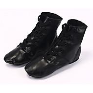 billige Jazz-sko-Dame Jazz-sko PU Flate Flat hæl Dansesko Svart / Ytelse / Trening