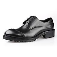 baratos Sapatos Masculinos-Homens Couro Primavera Conforto Oxfords Preto / Amarelo