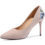 Mujer Zapatos Piel Primavera / Otoño Gladiador / Pump Básico Tacones Tacón Stiletto Dedo Puntiagudo Pajarita Gris / Rojo / Caqui og7YqOm