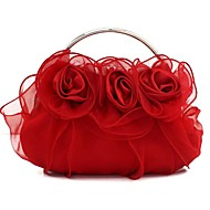 baratos Clutches & Bolsas de Noite-Mulheres Bolsas Seda Bolsa de Festa Renda Champanhe / Vermelho / Roxo